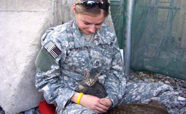 This Soldier Refused to Leave Special-Needs Kitten Behind