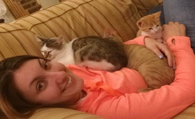 These Cats Can't Stop Cuddling After She Rescued Them
