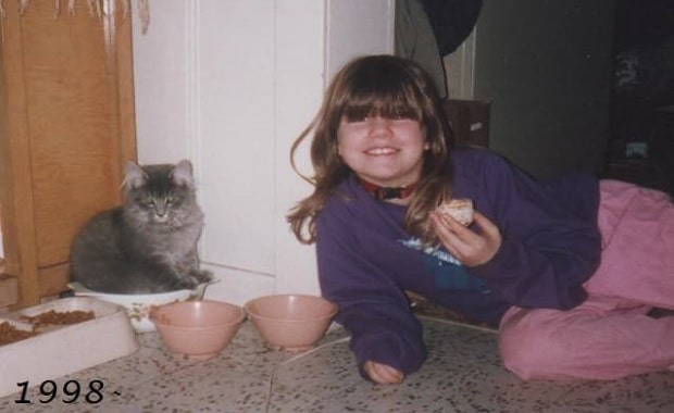 The Story of 17 Year Old Cat and Her Forever Human, Then and Now