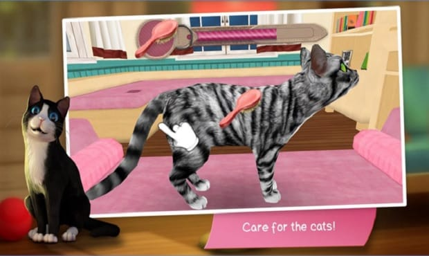 """New Game App For Cat Lovers: Being a Cat Nanny at """"Cat Hotel"""""""