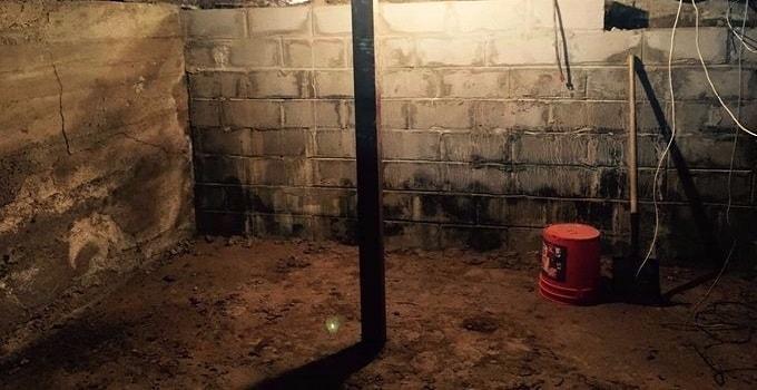 The basement where Cinder was found. (Photo: Lynn Kuschke)