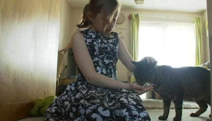 Kaitlin and her pet cat Jack moved in with her aunt in 2013