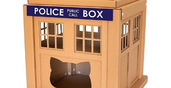 Photos: Unique Cardboard Box Cat Homes