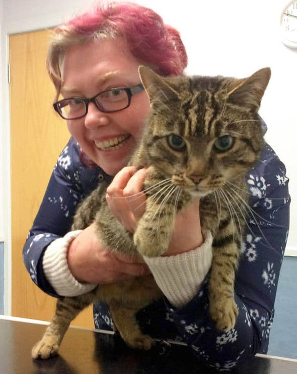 Ms Wharton was keen to thank Abbey Vets for their help