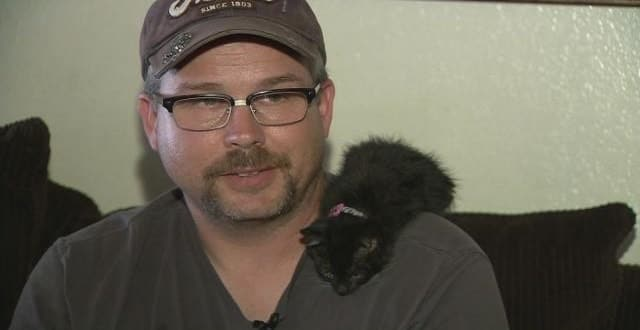Man & kitten inseparable after rescue!