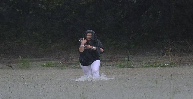 She Rescued The Kittens in The Middle of a Flash Flood