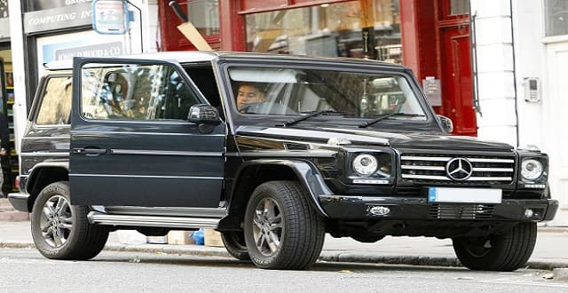 Nick Grimshaw spotted with his new Mercedes vehicle on September (Picture: GC Images)
