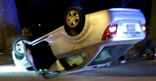 Teenage Iowa Girl Flips Car After Swerving to Miss Cat in Road!