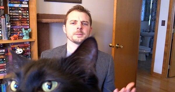 Cat Man Chris Interrupted During BBC Interview
