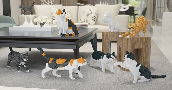'Lego' Cats - Are A Thing Now