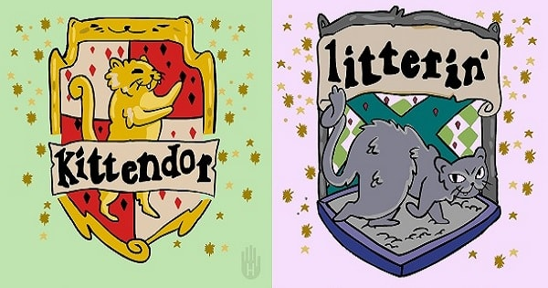What The Hogwarts Houses Might Be If They Had Been Founded By Cats – Click To See The GIFS!
