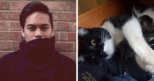 A Guy Goes Back into His Room to Get A Sweater Only to Find A Mysterious Cat in Its Place!