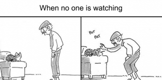 These 8 Comics Show The Ambivalent Relationship Between A Dad And The Family Cat